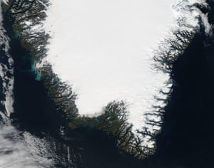 Satellite Eye on Earth: coasts of southern Greenland