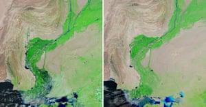 Satellite Eye on Earth: Flood waters lingered in southern Pakistan