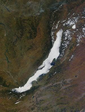 Satellite Eye on Earth: fog formed over Lake Baikal