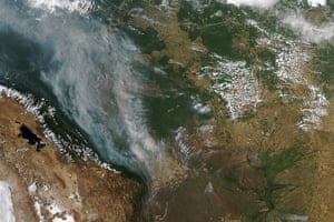 Satellite Eye on Earth: Fires burned throughout Bolivia