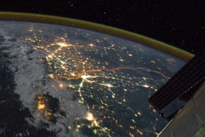 Satellite Eye on Earth: numerous cities large and small in northern India and northern Pakistan