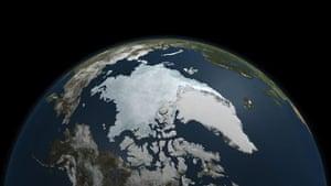 Satellite Eye on Earth: Arctic Ocean ice