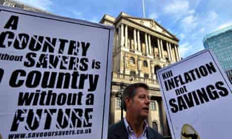Bank of England Quantitative Easing protest
