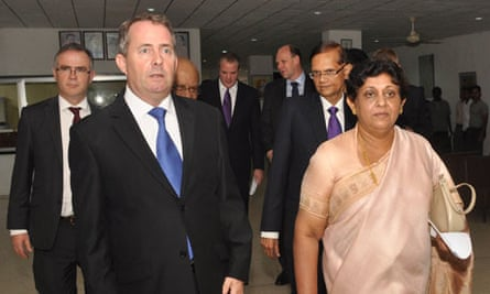 Liam Fox and Adam Werritty on the official trip to Sri Lanka