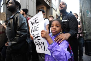 Wall Street Protests: People march in New York during Occupy Wall Street