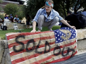Wall Street Protests: Brighton Wallace during Occupy Wall Street in Texas