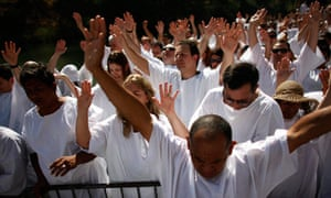 A group of evangelical Christian pilgrims