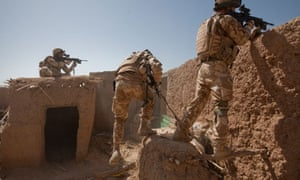 British troops come under fire while on patrol in Helmand province