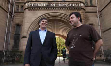 Physics Nobel prizewinners Andre Geim and Konstantin Novoselov