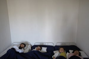 Famine in North Korea:  North Korean babies suffering from malnutrition