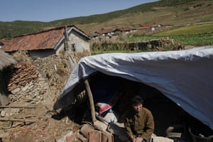 Famine in North Korea: farmer who lost her home in recent floods and typhoons