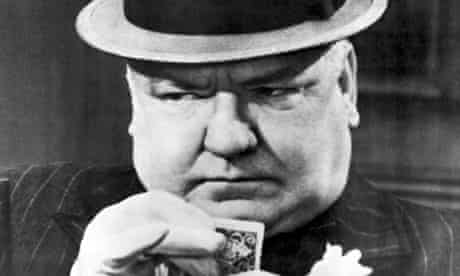 W C Fields makes a poker face