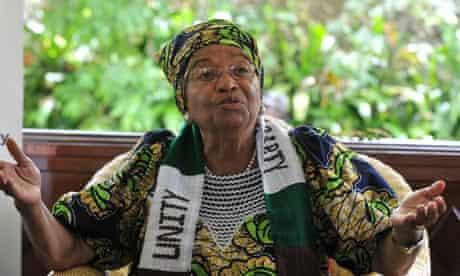 Nobel peace prize winner and Liberian president Ellen Johnson Sirleaf