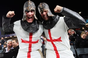 England v France: England fans ahead of their Rugby World Cup Quarter-Final against France