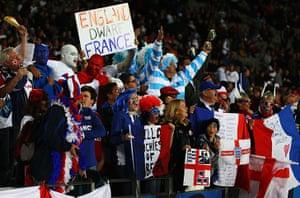England v France: Argentina fans at the England v France Quarter-Final