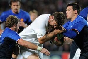 England v France: Mark Banahan is tackled