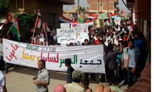 Anti-government protesters in Syria