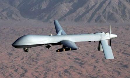 A Predator drone spyplane-bomber