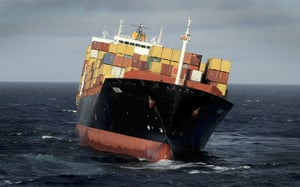 New Zealand oil spill: The MV Rena, with 2,100 containers aboard