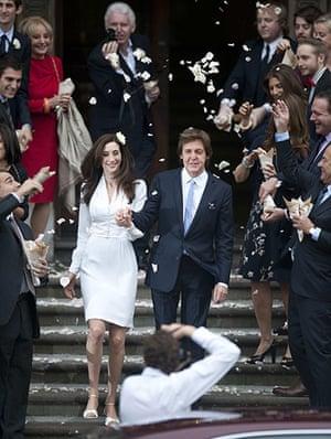 paul mccartney wedding: Paul McCartney and his bride Nancy Shevell