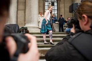 paul mccartney wedding: A Beatles fan shows her tattoos