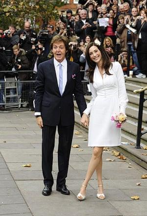 paul mccartney wedding: Sir Paul McCartney and his fiancee Nancy Shevel