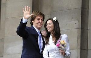 paul mccartney wedding: Paul McCartney and his fiancee Nancy Shevell arrive