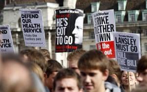 NHS cuts protest : NHS cuts protest