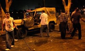 Christian demonstrators attack army truck