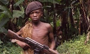 Zaire child-soldier