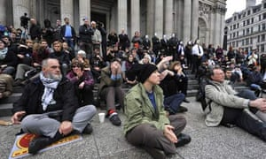 Occupy London protests outside St Paul's Cathedral