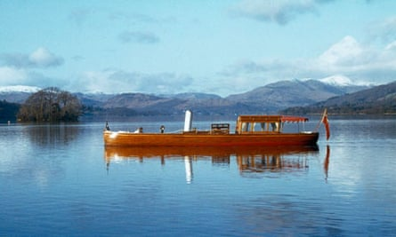 Windermere steamboat museum: the restored steam launch Osprey