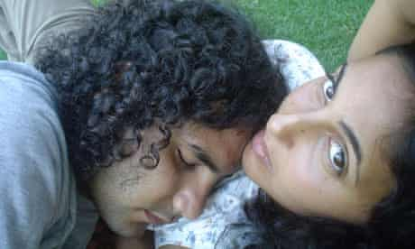 Alaa Abd El Fattah and his wife Manal Hassan