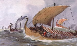 Viking raiding fleet