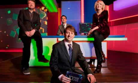 10 O'Clock Live's presenters Charlie Brooker, David Mitchell, Jimmy Carr and Lauren Laverne