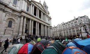 Occupy camp outside St Paul's Cathedral