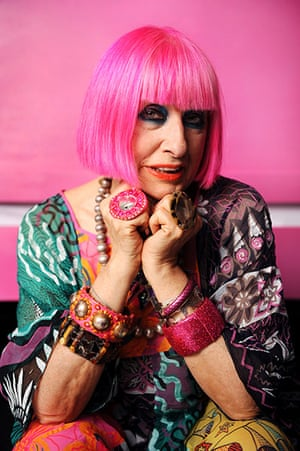 show-offs: Fashion/textile designer, Zandra Rhodes