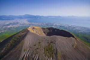 Seven wonders of nature: Crater of volcanic Mount Vesuvius