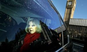 Theresa May leaves parliament