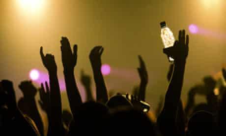 Crowd of clubbers dancing