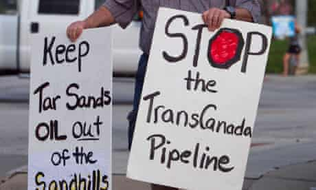 Keystone XL oil pipeline protests