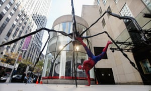 Seven Days on Stage: Spider-Man by 'Spider' sculpture by Louise Bourgeois