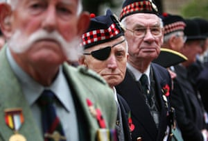 Armistice day: British war veterans visit the Field of Remembrance at Westminster Abbey