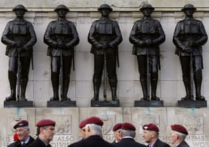 Armistice day: War veterans gather in Whitehall at the Cenotaph, London