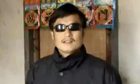 Blind Chinese activist Chen Guangcheng
