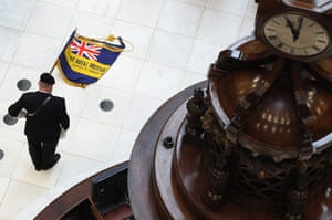 Armistice day update: Two minute silence in the Underwriting Room of Lloyd's Building, London