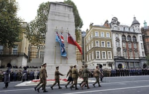 Armistice day update: Armistice Day remembrance service on Whitehall