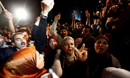 Supporters of the Ennahda movement celebrate in Tunisia