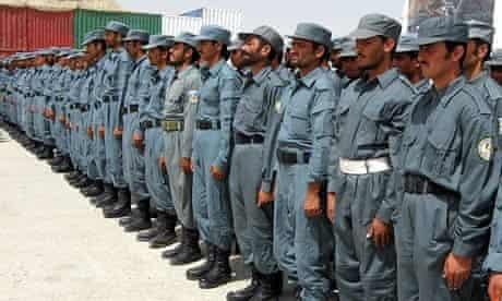 Afghan police officers