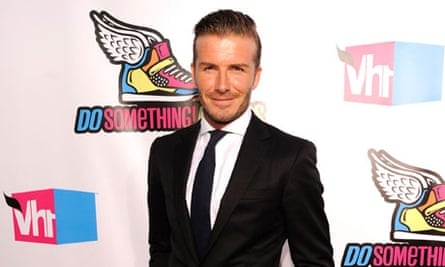 Two for one … with David Beckham you can follow fashion and football at the same time.